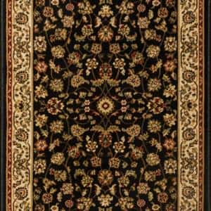 Sapphire Sarouk Black 33 in. x Your Choice Length Stair Runner