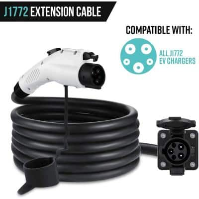 40 ft. J1772 Extension Cable for J1772 Electric Vehicle (EV) Chargers - Flexible Charging for Your Vehicle