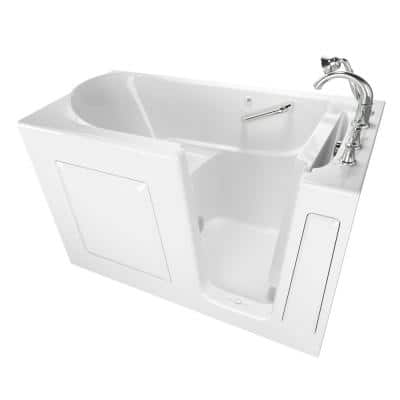 Exclusive Series 60 in. x 30 in. Right Hand Walk-In Soaking Tub with Quick Drain in White