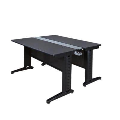 48 in. x 58 in. Fusion Grey Benching Station