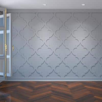 3/8 in. x 23-3/8 in. x 23-3/8 in. Marrakesh Decorative Fretwork Wall Panels in Architectural Grade PVC