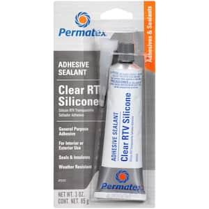 3 oz. Clear Silicone Adhesive Sealant