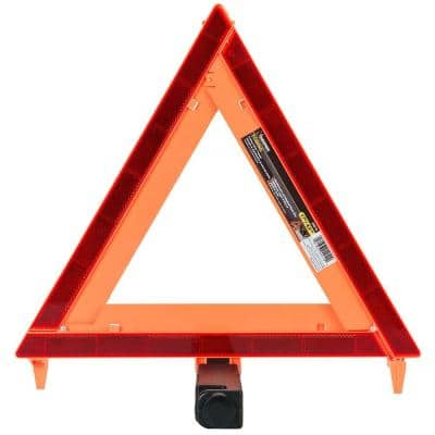 17 in. Orange Folding Safety Triangle