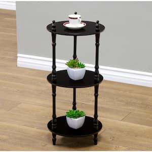 3-Tier Cherry Wood Decorative Free Standing Shelf