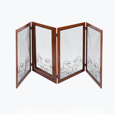 Portable 4-Panel MDF Dog Gate