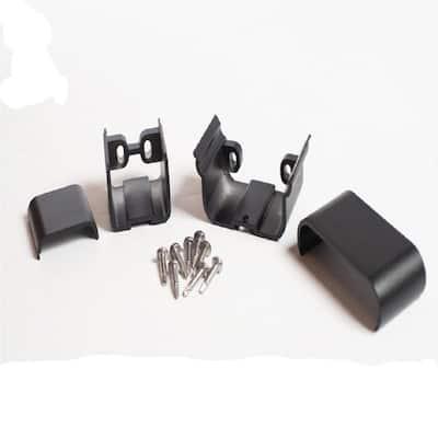 Plus Black Aluminum Textured Level Bracket Kit (2-Piece)