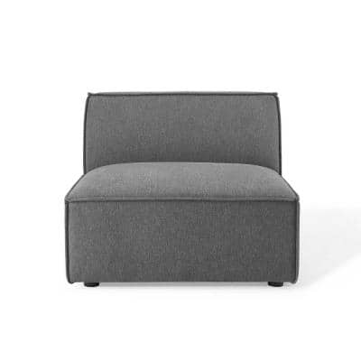 Restore Charcoal Polyester Armless Sectional Chair