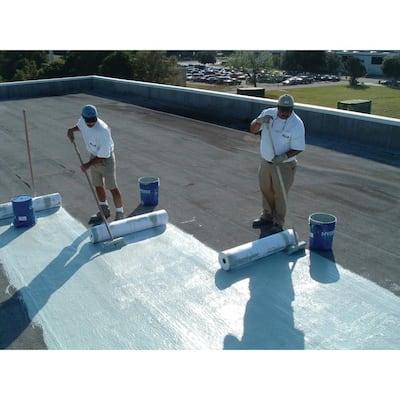 HydroStop PremiumCoat 55 Gal. Teal Finish Coat Acrylic Elastomeric Roof Coating (15-Year Limited Warranty)