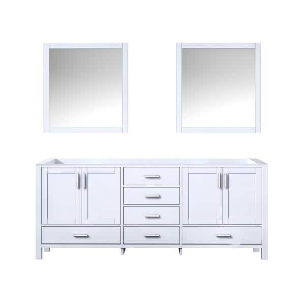 Lexora Jacques 60 Inch Double Bathroom Vanity Cabinet In Distressed Grey With Top And Mirror Lj342260dddsm58 The Home Depot
