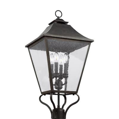 Galena 4-Light Outdoor Sable Post Light