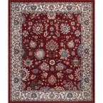 Gramercy Red 8 ft. x 10 ft. Floral Area Rug