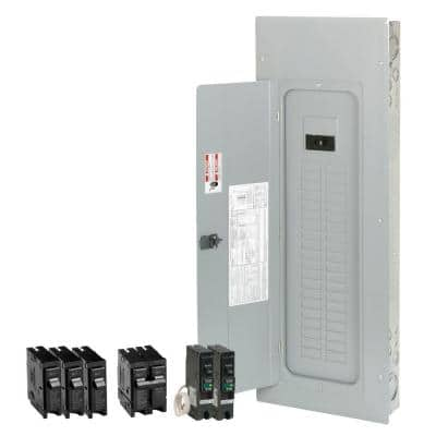 BR 200 Amp 40-Space 50-Circuit Indoor Main Breaker Loadcenter with Cover Value Pack (3-BR120, 1-BR230, 2-BRCAF115)