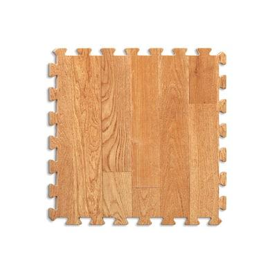 36 in. x 72 in. Brown Vineyard Crate Interlocking Foam Floor Tiles (Set of 2)
