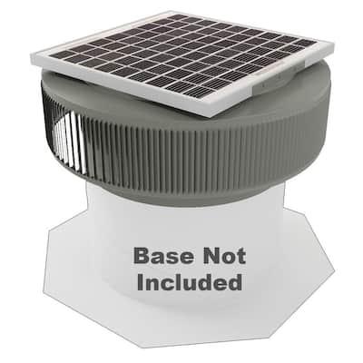 1007 CFM Weatherwood Powder Coated 15-Watt Solar Powered 14 in. Dia Retrofit Attic Roof Fan
