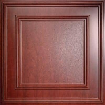 Cambridge Faux Wood-Cherry 2 ft. x 2 ft. Lay-in or Glue-up Ceiling Panel (Case of 6)