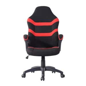 Red Ergonomic Fabric Upholstery Gaming Chair with Adjustable Height and Back Support for Home or Office