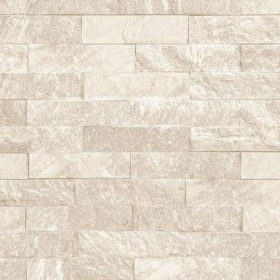Stacked Stone Vinyl Roll Wallpaper (Covers 55 sq. ft.)