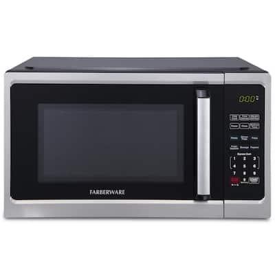 0.9 cu. ft. 900-Watt Countertop Microwave Oven in Stainless Steel