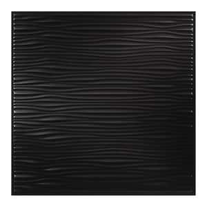 23.75in. X 23.27in. Drifts Lay In Vinyl Black Ceiling Tile (Case of 12)