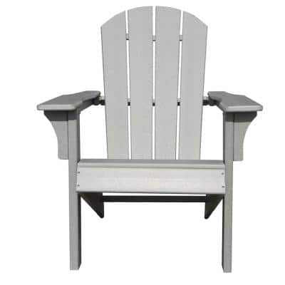 Waller 33.46 in. D x 29.13 in. W x 37.01 in. H Gray Non-Foldable Plastic Adirondack Chair