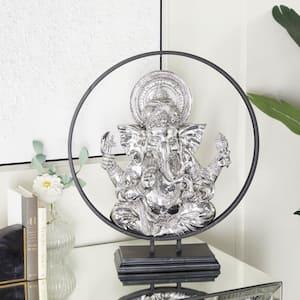 Black Eclectic Polystone Buddha