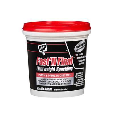 Fast'N Final 8 oz. White Lightweight Spackling (12-Pack)