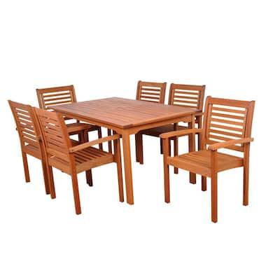 Milano 7-Piece Rectangular Patio Dining Set