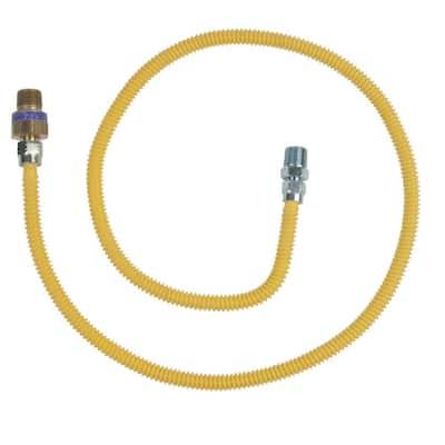 1/2 in. MIP x 1/2 in. MIP x 48 in. Gas Connector (3/8 in. O.D.) with Safety+Plus2 Thermal Excess Flow Valve (28,300 BTU)