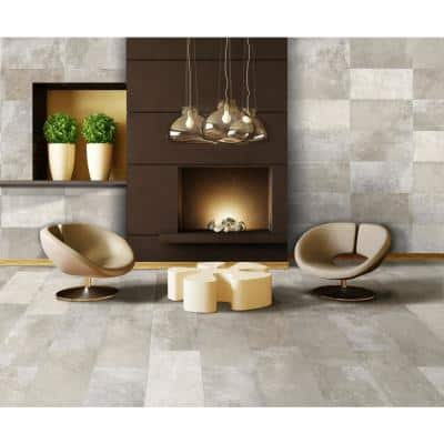 Euro Arcadia Gray 12 in. x 24 in. Porcelain Floor and Wall Tile (14.42 sq. ft. / case)