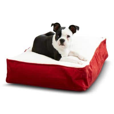 Buster Extra Small Crimson Sherpa Dog Bed