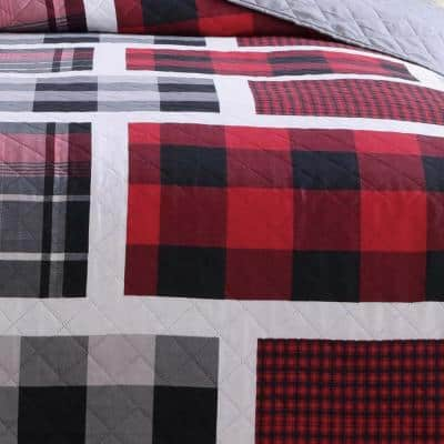 Buffalo Plaid Red and Black Quilt Set