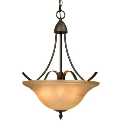 Negron 3-Light Dark Brown Copper Incandescent Pendant
