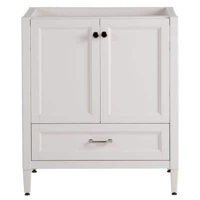 Claxby 30 in. W x 34 in. H x 21 in. D Bathroom Vanity Cabinet Only in Cream