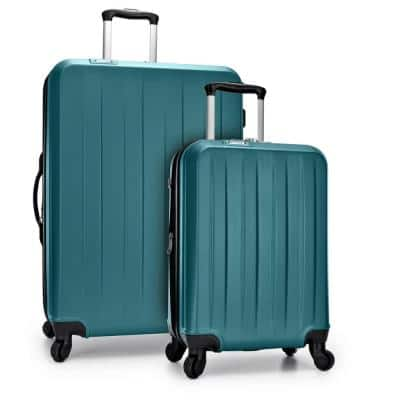 Havana 2-Piece Teal Spinner Luggage Set with USB Port
