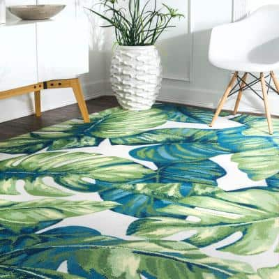 Lisa Floral Multi 5 ft. x 8 ft.  Indoor/Outdoor Area Rug