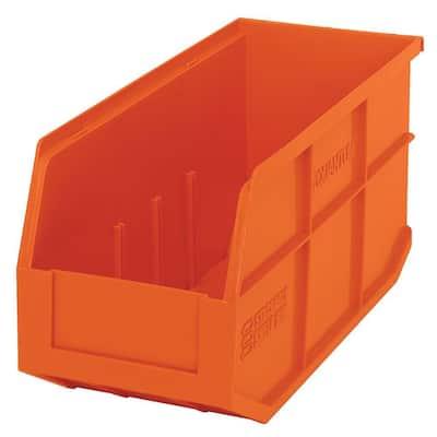 Stackable Shelf 10-Qt. Storage Tote in Orange (6-Pack)