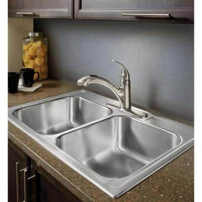 Integra Single-Handle Pull-Out Sprayer Kitchen Faucet with Power Clean in Spot Resist Stainless