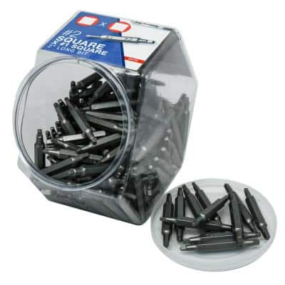 #1 x #2 x 2 in.  Square Recess Phillips (150-Pack)