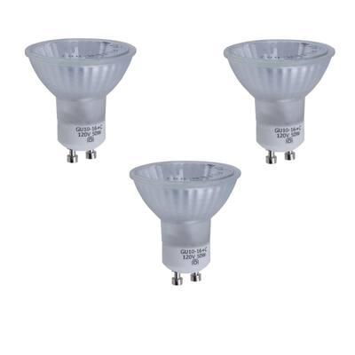 50-Watt GU10 Halogen Partial Reflector Light Bulb (3-Pack)