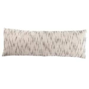 Saxon Stripe White/ Gray Down Lumbar 14 in. x 40 in.