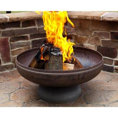 Patriot 36 in. x 18 in. Round Steel Wood Fire Pit