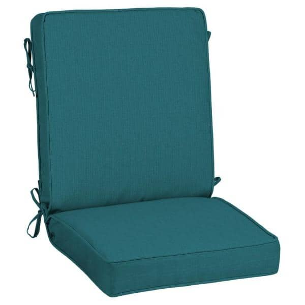 Home Decorators Collection 21 X 44 Sunbrella Spectrum Peacock Outdoor Dining Chair Cushion Ah28384b D9d1 The Home Depot