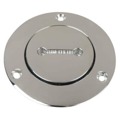 Unmarked Fill for 1-1/2 in. Pipe - Chrome-Plated Bronze