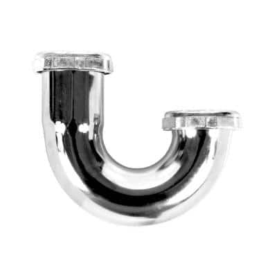 1-1/2 in. 22-Gauge Chrome-Plated Brass Sink Drain J-Bend P-Trap