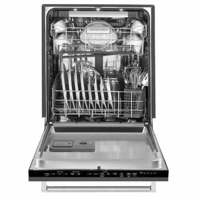 24 in. Panel Ready Top Control Tall Tub Dishwasher with Stainless Steel Tub, 44 dBA