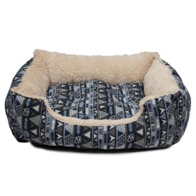 Otto Large Blue Square Pet Bed