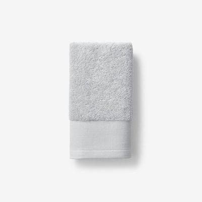 Organic Glacier Gray Solid Cotton Hand Towel