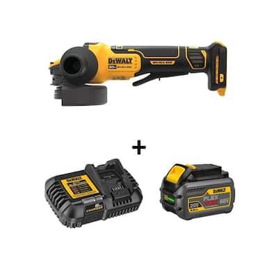 20-Volt MAX Cordless Brushless 4-1/2 - 5 in. Angle Grinder with FLEXVOLT ADVANTAGE and (1) FLEXVOLT 6.0Ah Battery Kit