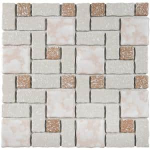 Academy Beige 12 in. x 12 in. Porcelain Mosaic Tile (9.79 sq. ft. / Case)