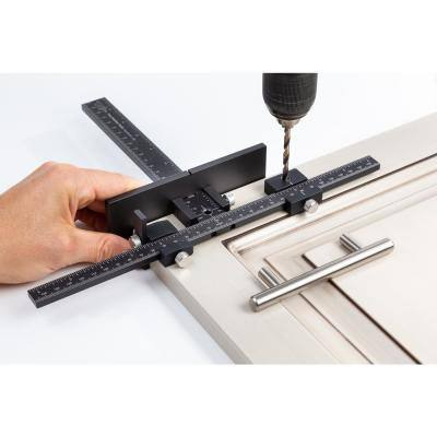 Cabinet Hardware Jig for Installation of Handles and Knobs on Doors and Drawer Fronts